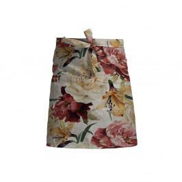 Květovaná zástěra s příměsí lnu Linen Couture Delantal Spring Flowers
