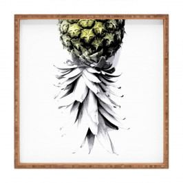 Dřevěný dekorativní servírovací tác Ann Annas, 40x40cm