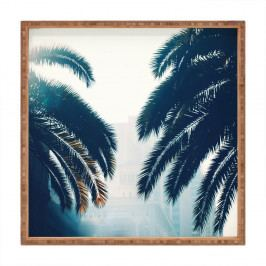 Dřevěný dekorativní servírovací tác Moody Trees, 40x40cm