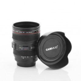 Černý multifunkční cestovní hrnek InnovaGoods Lens, 400ml