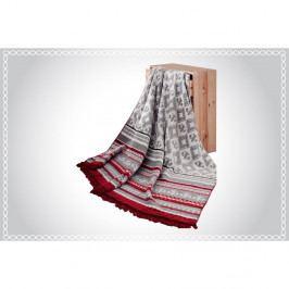 Deka s příměsí bavlny Aksu Mistic Stripe, 200 x 150 cm
