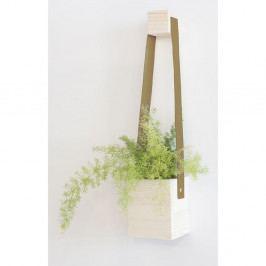 Hnědý květináč z jedlového dřeva Surdic Colgante, 17 x 62 cm