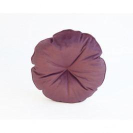 Hnědo-červený polštář z mikrovlákna Surdic Redondo, ø 45 cm