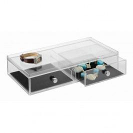 Transparentní organizér se dvěma zásuvkami iDesign Drawer