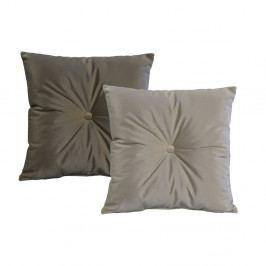 Sada 2 Šedých polštářů JohnsonStyle Magic Velvet, 45 x 45 cm
