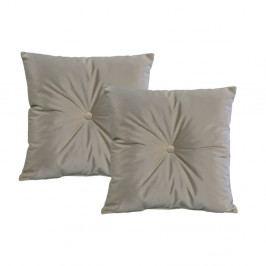 Sada 2 světle šedých polštářů JohnsonStyle Magic Velvet, 55 x 55 cm