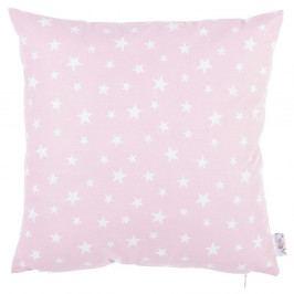 Růžový bavlněný povlak na polštář Apolena Mirro, 35 x 35 cm