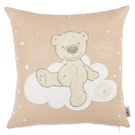 Hnědý povlak na polštář s příměsí bavlny Apolena Bear, 35 x 35 cm