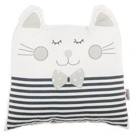 Šedý dětský polštářek s příměsí bavlny Apolena Pillow Toy Big Cat, 29 x 29 cm