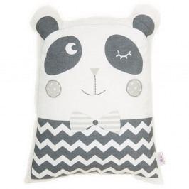 Šedý dětský polštářek s příměsí bavlny Apolena Pillow Toy Panda, 25 x 36 cm