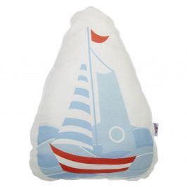 Dětský polštářek s příměsí bavlny Apolena Pillow Toy Boat, 30 x 37 cm