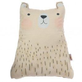 Hnědý dětský polštářek s příměsí bavlny Apolena Pillow Toy Bear Cute, 22 x 30 cm