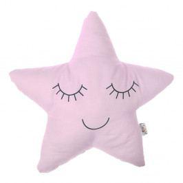 Světle růžový dětský polštářek s příměsí bavlny Mike&Co.NEWYORK Pillow Toy Star, 35 x 35 cm