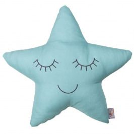 Tyrkysový dětský polštářek s příměsí bavlny Apolena Pillow Toy Star, 35 x 35 cm