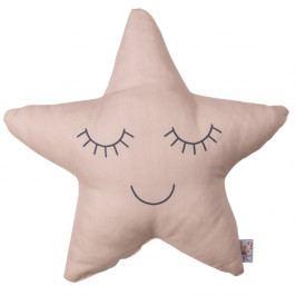 Béžovorůžový dětský polštářek s příměsí bavlny Apolena Pillow Toy Star, 35 x 35 cm
