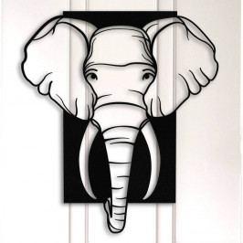 Černá kovová nástěnná dekorace Elephant