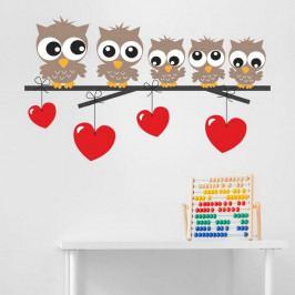 Dekorativní nálepka na stěnu Owl Kids