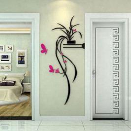 Dekorativní nálepka na stěnu Home Flower
