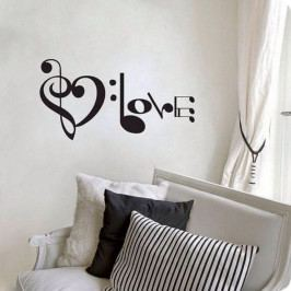 Dekorativní nálepka na stěnu Music Love