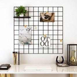 Černá kovová nástěnka Reminder, 60 x 60 cm