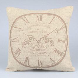 Světle hnědý povlak na polštář Dakls Clock, 40x40cm