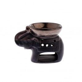 Černá keramická aromalampa Dakls Elephant