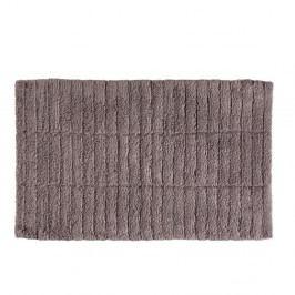 Hnědá bavlněná koupelnová předložka Zone Tiles, 50 x 80 cm