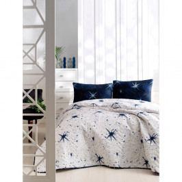 Set bavlněného přehozu přes postel a 2 povlaků na polštáře Masso Pura, 200 x 220 cm