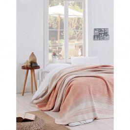 Světle růžová deka Puro Lessno, 180 x 220 cm