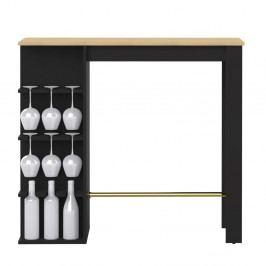 Černý jídelní stůl s barem Symbiosis Viso