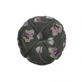 Tmavě šedý polštář BePureHome Vogue, ø 45 cm