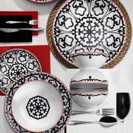 24dílná sada porcelánového nádobí Kutahya Luhko