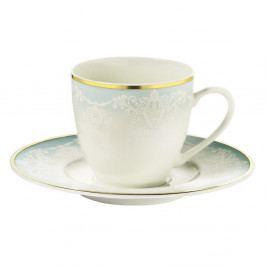 Sada 6 porcelánových šálků s podšálky Kutahya Africa, 50 ml