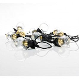 Černý LED světelný řetěz Markslöjd Dakke, 10 světýlek, délka 7,5 m
