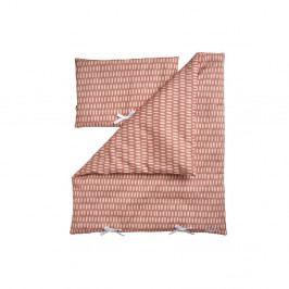 Růžový set peřinky a polštáře k posteli pro panenky Flexa Toys