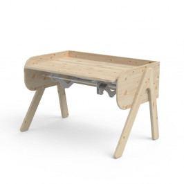 Dětský psací stůl z borovicového dřeva s nastavitelnou výškou Flexa Woody