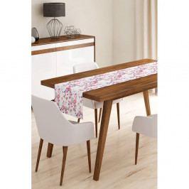 Běhoun na stůl z mikrovlákna Minimalist Cushion Covers Flamengo with Flowers, 45x145cm