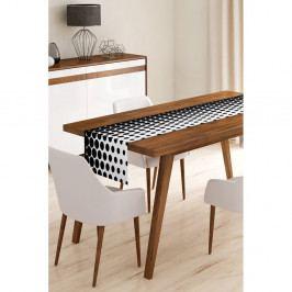 Běhoun na stůl z mikrovlákna Minimalist Cushion Covers Black Dots, 45x145cm