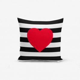 Povlak na polštář Minimalist Cushion Covers Navy Heart, 45x45cm