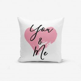 Povlak na polštář Minimalist Cushion Covers You & Me Heart, 45 x 45 cm