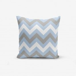 Povlak na polštář Minimalist Cushion Covers Zigzag Blue, 45x45cm