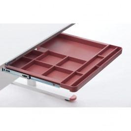 Červená přídavná zásuvka k psacímu stolu Flexa Evo