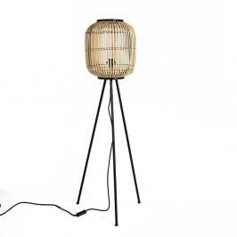Stojací lampa s bambusovým stínidlem Simla Natural, výška116cm
