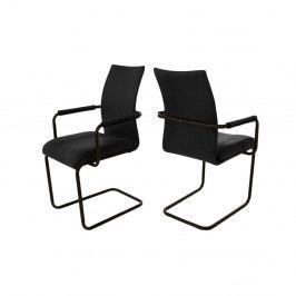 Černá jídelní židle s područkou Canett Clipper