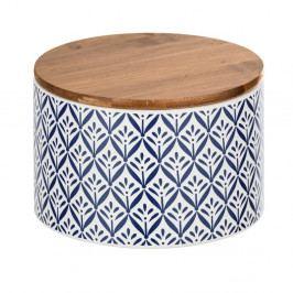 Keramický úložný box s bambusovým víkem Wenko Lorca, 750ml
