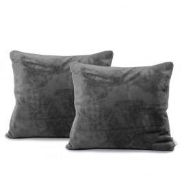 Sada 2 tmavě šedých povlaků na polštáře DecoKing Mic, 45 x 45 cm
