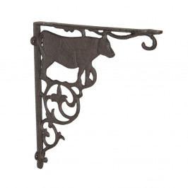 Železná dekorativní konzole na polici Clayre&Eef Cow