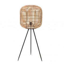 Volně stojací lampa se stínidlem z březového dřeva InArt Decent, výška 90 cm