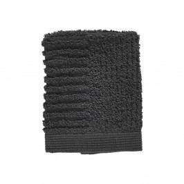 Antracitově šedý ručník ze 100% bavlny na obličej Zone Classic, 30x30cm