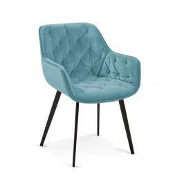 Tyrkysově modrá jídelní židle La Forma Mulder